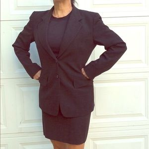 DKNY Donna Karan wool-mix skirt suit.